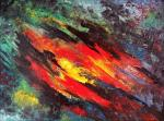 Kompozycja Abstrakcyjna – sprzedam obraz olejny na płótnie